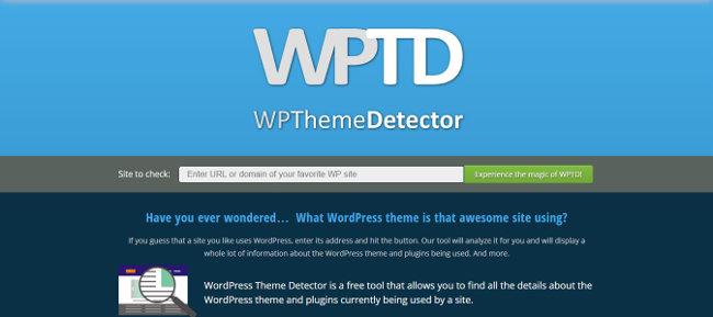WP Theme Detector, l'un des outils gratuits en ligne pour savoir quel thème WordPress est utilisé sur un site.